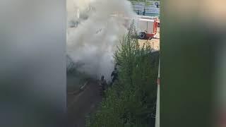 В Красноярске сгорела газель