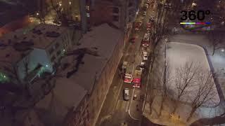 Коптеры «360» сняли с воздуха рухнувшее здание в Москве