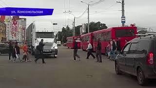 Видеорегистратор  ДТП уснул за рулем и оказался в кювете, Советский тракт  Место происшествия 06 08