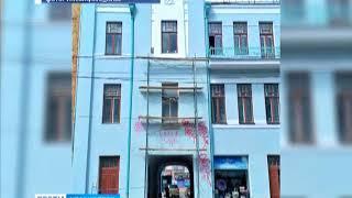 В центре Красноярска вандалы разрисовали отремонтированное историческое здание