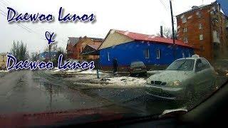 ДТП в Бахмуте. Daewoo Lanos & Дэу Ланос. Артемовск. Регистратор JunSun.