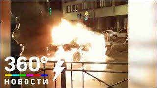 Два человека сгорели в машине из-за страшной аварии в Петербурге