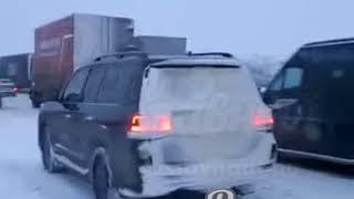 Большая пробка на М4 19.3.2018 Ростов-на-Дону Главный