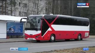 Из Костомукши в Финляндию на  автобусе