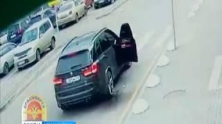 Пьяный водитель устроил стрельбу на парковке гипермаркета в Красноярске