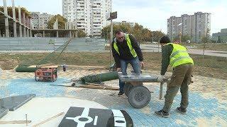 В парке Героев-летчиков устанавливают солнечные часы