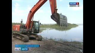 Начались работы по очистке и берегоукреплению Тщикского водохранилища