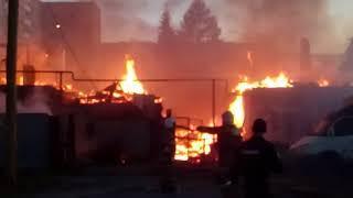 Пожар Нижний Тагил. Шок хозяйки и работа пожарных 12.06.2018