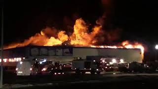 Пожар в Rich Family в Тюмени