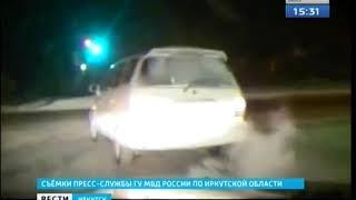Пьяный водитель пытался убежать от инспекторов ГИБДД в Иркутске