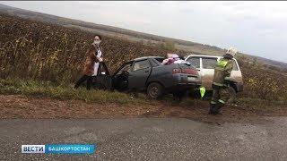 Женщина-водитель без прав устроила ДТП на трассе в Башкирии