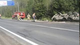 Сразу две аварии с участием грузовой техники произошли в регионе