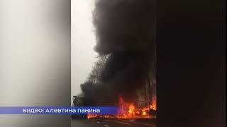 В Кингисеппском районе Санкт-Петербурга горят два грузовика