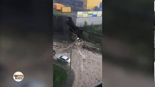 В Волгограде торговый центр сбросил сель на жилой комплекс