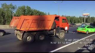 Пришлось срочно убирать неисправное грузовое ТС с проезжей части, чтобы избежать ДТП