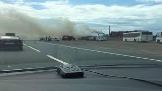В придорожном кафе на трассе М-8 случился пожар