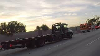 Accident on freeway