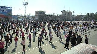 Массовая зарядка прошла на площади Ленина в Ставрополе