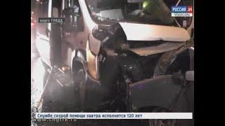 В Чебоксарах произошла крупная авария  с участием маршрутки