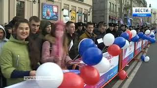 Владивосток принял эстафету огня Всемирной зимней Универсиады