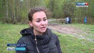 Большой субботник в поселке Беломорье