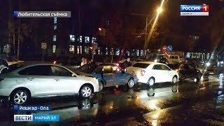 Из-за ливня в Йошкар-Оле увеличилось число ДТП