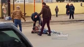 Два бомжа подрались на автовокзале 18.3.2018 Ростов-на-Дону Главный