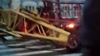 Ураган в Барнауле.  Видео с места падения крана (Инцидент Барнаул)