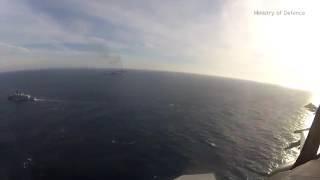 Полет истребителей НАТО над «Адмиралом Кузнецовым»