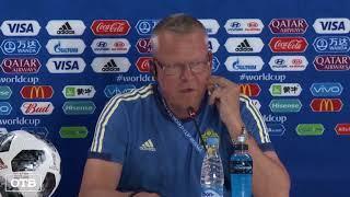 Футболисты сборной Швеции провели тренировку на «Екатеринбург Арене»