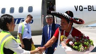 Футбольный болельщик из Мексики - миллионный пассажир в аэропорту Минвод