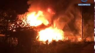 В пожаре на ул. Саранской сгорел мужчина. ВИДЕО