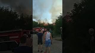 Крупный пожар в центре Кургана. Жильцы до сих на улице