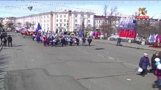 Прямая трансляция Первомайской демонстрации в Магаданской области