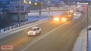ДТП Бийск на коммунальном мосту  24.11.2018