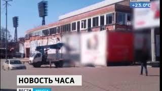 Мэрия Иркутска назвала работы на пристрое к торговому центру «Вояж» на улице Ленина незаконными