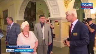 Учительница Путина встретилась в Грозном со старейшинами