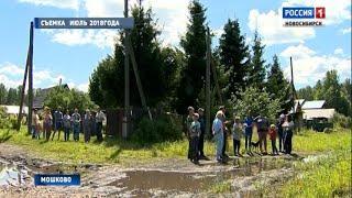 После репортажа «Вестей» на улице Зеленая в Мошково начали ремонт дороги