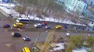 ДТП (авария г. Волжский) ул. Карбышева ул. Бульвар Профсоюзов 27-03-2018 09-52