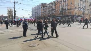 Шествие, посвященное 1 мая, в Хабаровске