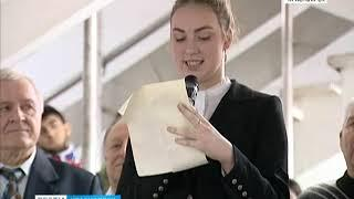 В Красноярске в Аэрокосмическом колледже извлекли капсулу времени