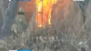 В Красноярске на улице Говорова загорелся частный дом