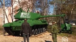 Танк и пушки станут главными экспонатами сквера Пограничников в Биробиджане(РИА Биробиджан)