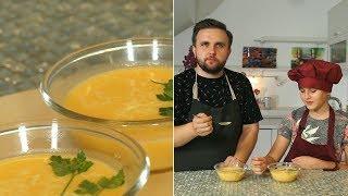 «Первое, второе и компот». Кисломолочный коктейль и тыквенный крем-суп