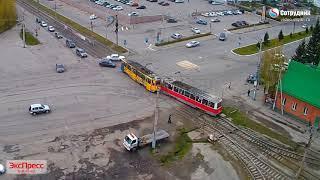 ДТП Бийск столкнулись два трамвая. 11.05.2018