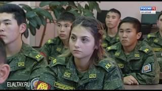 Кадетам казачьих групп Mайминского сельскохозяйственного техникума вручили знамя