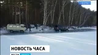Два внедорожника провалились под лёд в Курминском заливе