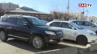 Читинские водители паркуются на тротуарах, ссылаясь на нехватку парковок