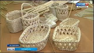 В Астрахани проводят мастер-классы по плетению из рогоза