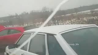 На Ставропольской трассе столкнулись семь машин